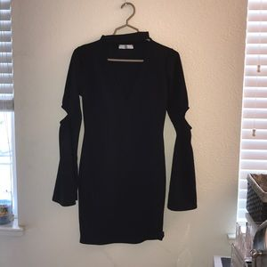 Missguided black choker dress